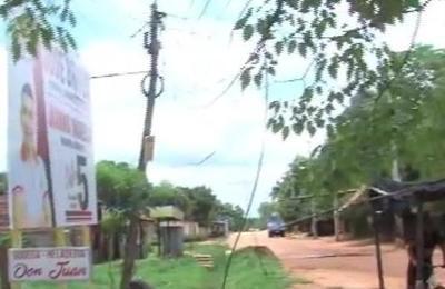 Otra vez Copaco: Dos columnas caídas en Mora Cué, Luque