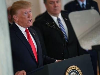 Trump dice que no hubo bajas en el ataque con misiles y anunció sanciones económicas para Irán