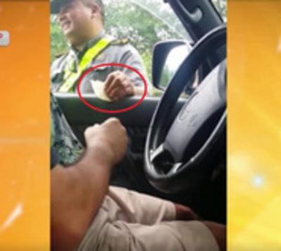 """Inspector de la Patrulla Caminera es sometido a un sumario por recibir """"coima"""""""