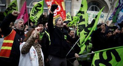 París, inmerso en una protesta masiva sobre las pensiones