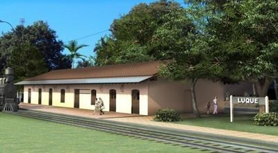 Inauguran obras de restauración de Estación de Ferrocarril en Luque