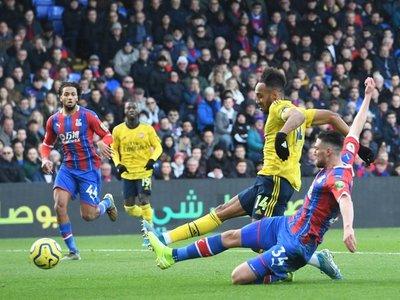 Aubameyang, héroe y villano en empate del Arsenal ante Crystal Palace