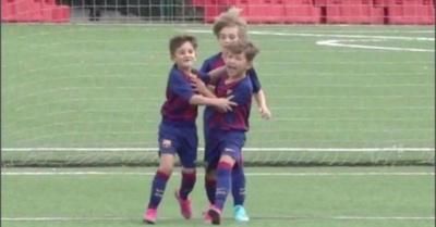 Hijo de Messi clavó su primer gol