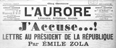 A 122 años de la proclama del escritor Émile Zola contra el antisemitismo en Francia