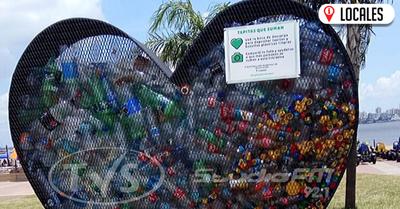 Llenan primer Ecopunto Corazón de la Campaña de «Tapitas que Suman»
