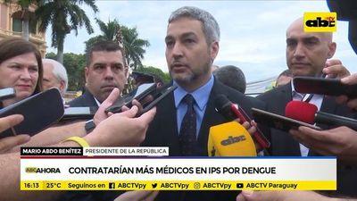 Contratarán más médicos en IPS por dengue
