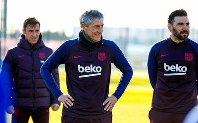 Quique Setién asume el mando del Barcelona