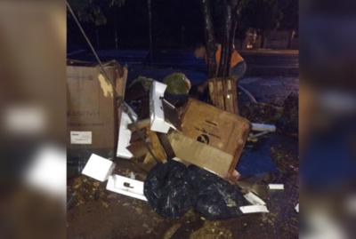 Comuna asuncena busca determinar a responsables de tirar basura en la vía pública