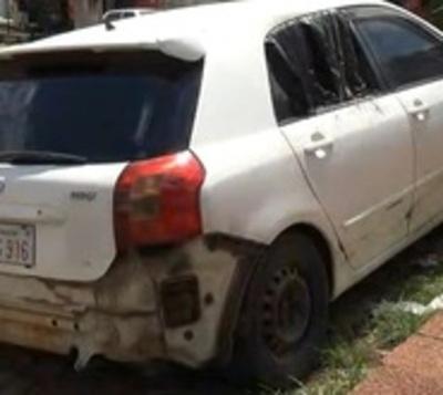 Crimen en Ñemby: Hallan vehículo incendiado