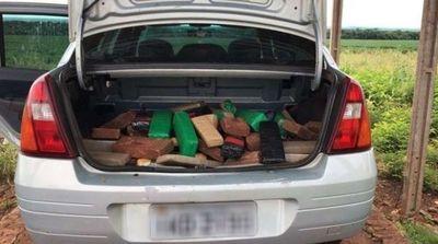Fletero paraguayo cae con 71 kilos de cocaína junto con su acompañante