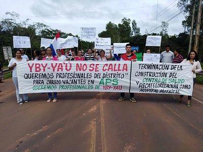 Piden concurso y culminación de obra en hospital en Yby Yaú