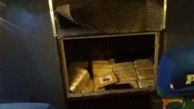 Excursión a Aparecida cargadita con 556 kilos de cocaína