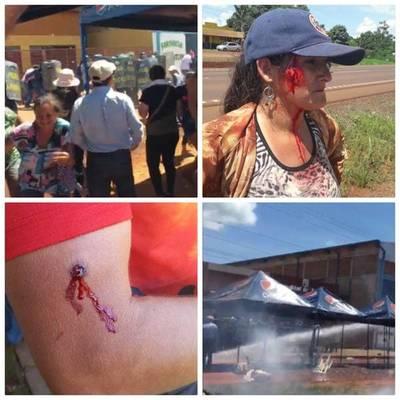 Varios heridos y detenidos  tras asunción de nuevo intendente en Juan E. O'leary