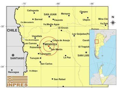 Sismo de magnitud 4,8 sacude la ciudad argentina de Mendoza