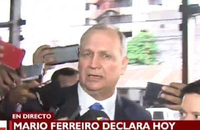 """""""Estoy tranquilo"""", afirma Ferreiro al presentarse en Fiscalía"""