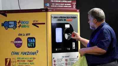 Roma: Puedes pagar con botellas de plástico para viajar en metro