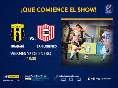Guaraní y San Lorenzo abren la temporada 2020