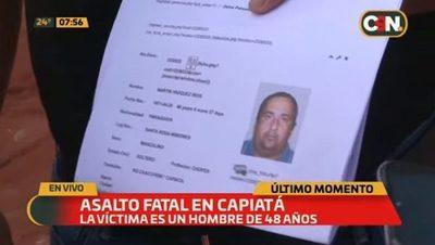 Asesinan a un hombre para robarle su motocicleta en Capiatá