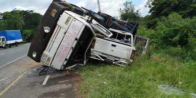 4 caballos mueren en aparatoso accidente de tránsito en San Bernardino