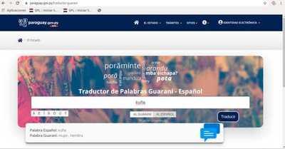 Disponibilizan traductor online de guaraní– castellano