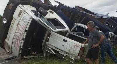 Mueren cuatro caballos de la Policía Nacional en accidente de tránsito