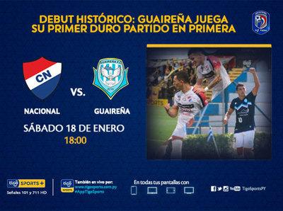 Previa del partido Nacional vs. Guaireña