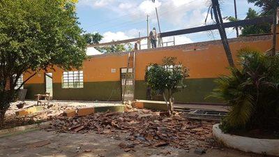 Fonacide: Avanza trabajos en Escuela Sgto. Silva