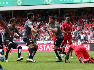 José Doldán anotó en el triunfo del Necaxa ante Toluca