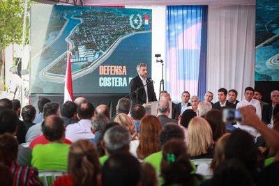 Firman contrato para la defensa costera en Pilar