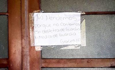Sin médicos en Arroyos y Esteros, denuncian