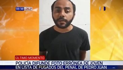 Denuncian error en lista de fugados de cárcel de Pedro Juan