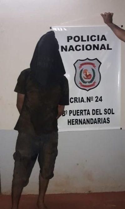 Detienen a ladrón domiciliario en Hernandarias