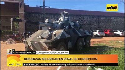 Refuerzan seguridad del penal de Concepción