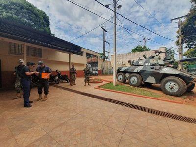 Más militares y policías controlan la cárcel de Ciudad del Este tras fuga