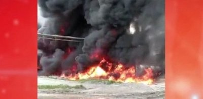 Arde planta de INC en Villeta