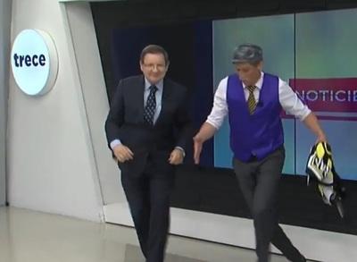Carlos Martini nuevamente bailando ante cámaras