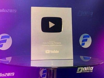 YouTube otorga placa de plata al canal de  Baila Conmigo Paraguay