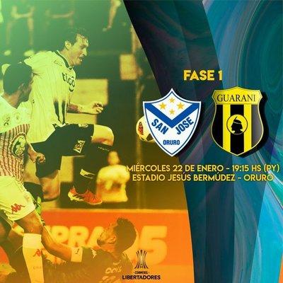 Un San José diezmado recibe al paraguayo Guaraní en la Libertadores