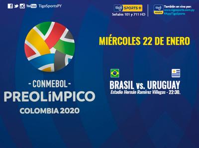 Brasil y Uruguay se miden por el Preolímpico