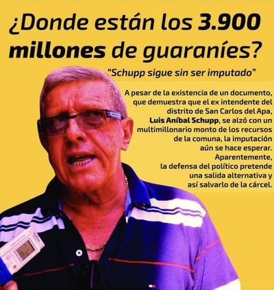 Luis Aníbal Schupp sigue impune por impericia del Ministerio Público