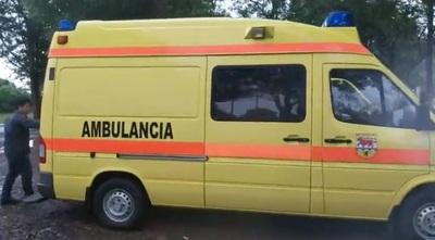 Yguazú cuenta con nueva ambulancia