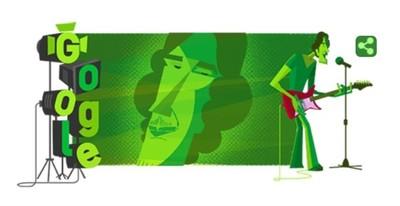 Google homenajeó a Luis Alberto Spinetta con un doodle