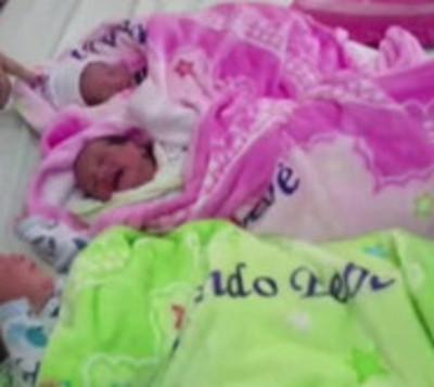 ¡Bendición de a tres! Madre dio a luz trillizos en Ciudad del Este