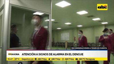 Atención a signos de alarma en el dengue