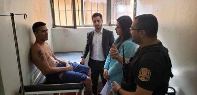 Constatan lesiones en interno recapturado, pero no confirman tortura