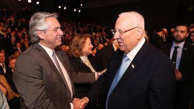 El presidente Alberto Fernández se reunió con su par israelí en Jerusalén