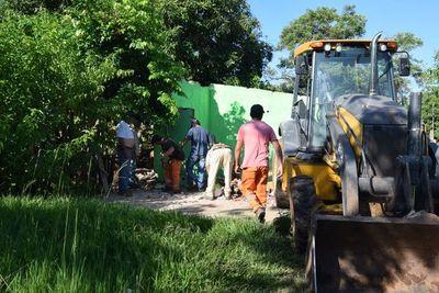 San Lorenzo recupera más de 10.000 m2 de terrenos ocupados irregularmente