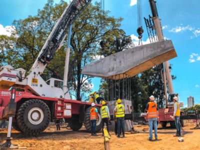 Corredor Vial Botánico:Elevan primer dintel que sostendrá al viaducto