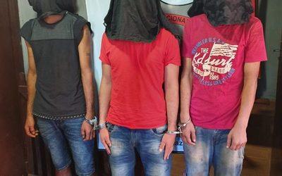 Detienen a tres sospechosos por robo