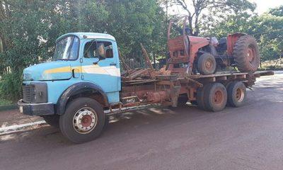 Incautan camión que transportaba maquinaria de dudosa procedencia